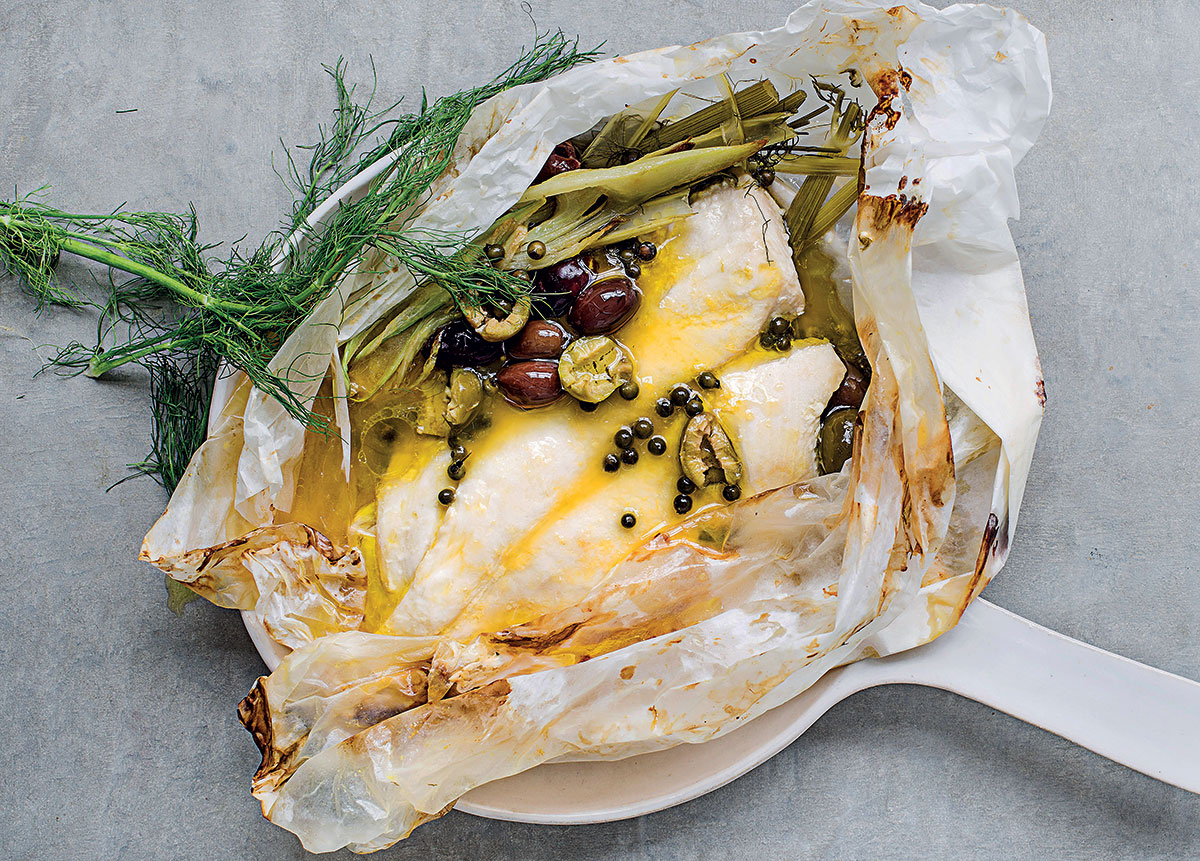 Fish en papillote with orange juice recipe