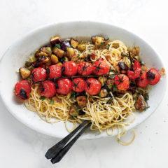 Tomato caponata pasta
