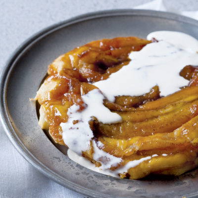 Upside-down caramel banana tart | Woolworths TASTE