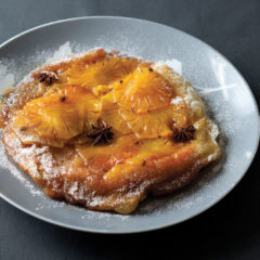 Upside-down caramel pineapple tart
