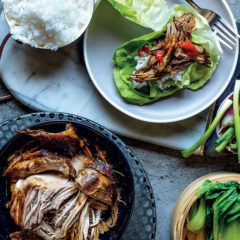 Asian-style slow-cooked pork shoulder