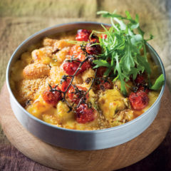 Baked tomato and cheesy gnocchi