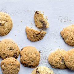 Lesley Cobb's choc-chip cookies