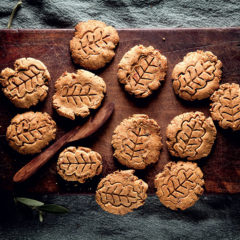 Peanut butter-and-date biscuits