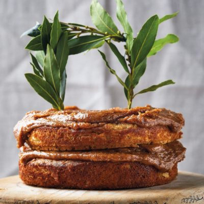 Celeriac-and-nut cake with date butter