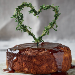 Gingery butternut cake with coconut-butterscotch drizzle