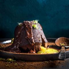 Lemon-curd lava pudding