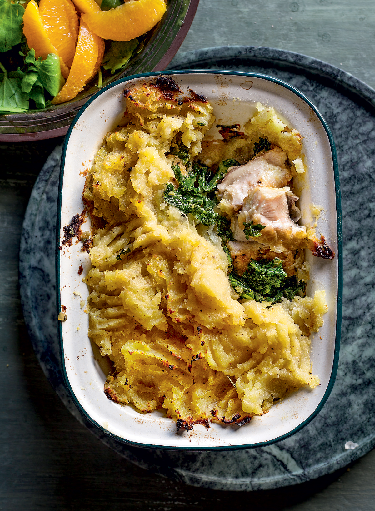 Fish-and-kale pie with sweet potato topping recipe