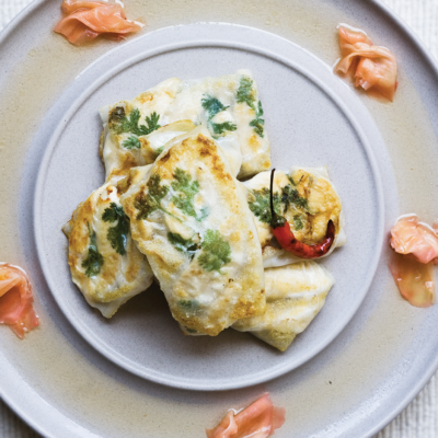 Lime and coriander chicken parcels