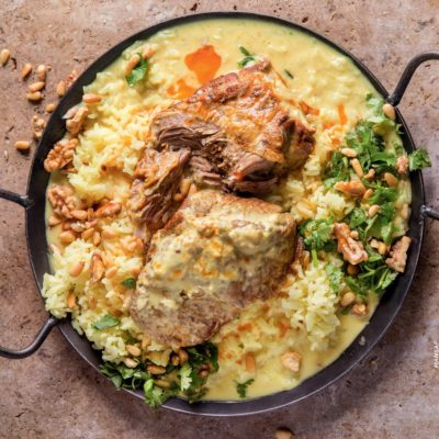 Mansaf (lamb in yoghurt sauce)