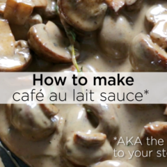 Watch: How to make cafe au lait sauce
