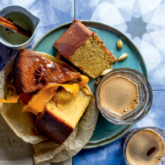 Middle-Eastern orange cake with spiced syrup