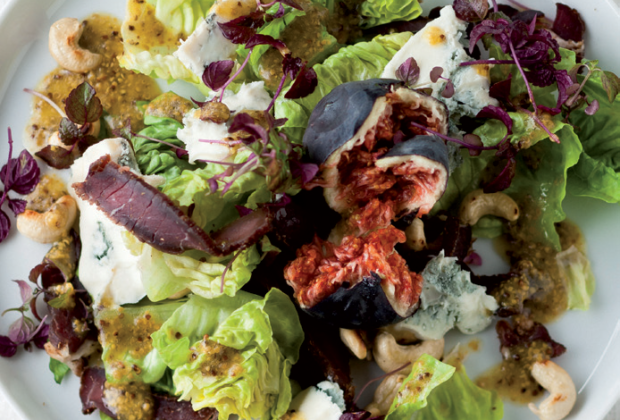 Biltong, Gorgonzola and fig salad recipe