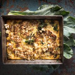 Cauliflower-and-goat's cheese frittata