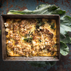 Cauliflower-and-goat's cheese frittata