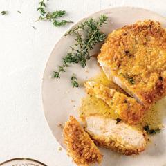 Lemon-and-thyme panko crumbed pork chops