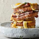 Open two-cheese croque madame recipe
