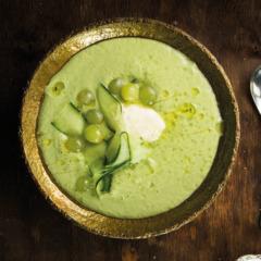 Spring green gazpacho