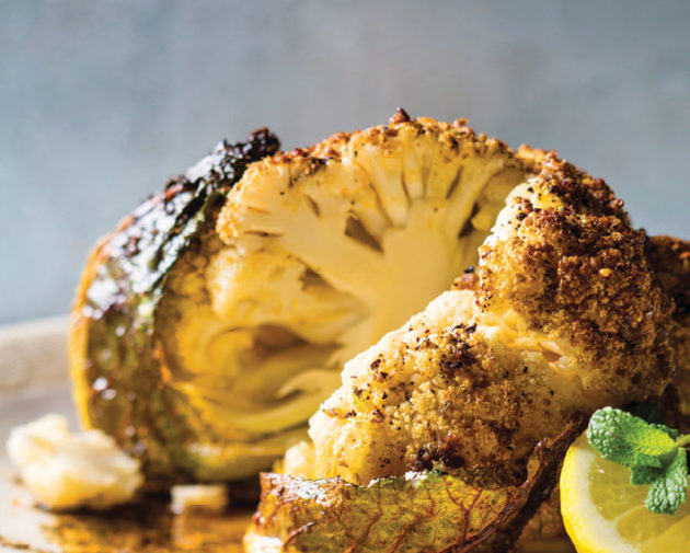 Whole harissa-roasted cauliflower recipe