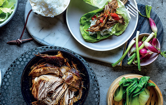 Asian-inspired slow cooked pork shoulder recipe
