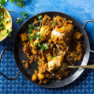 Cape Malay chicken biryani casserole