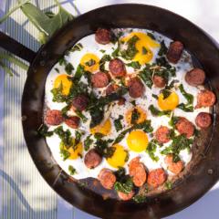 Chorizo-and-egg hot pan