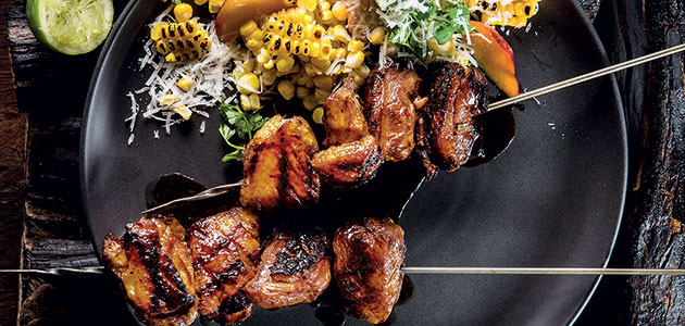 MAPLE-AND-BALSAMIC DUCK KEBABS recipe