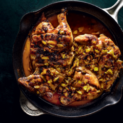 Indian chicken roasted in atchar