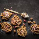 Mini funnel cakes with chuckles recipe
