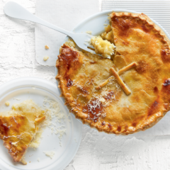 Nana's three-cheese-and-onion pie