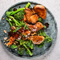 Quick-and-easy pork-and-Tenderstem broccoli stir-fry