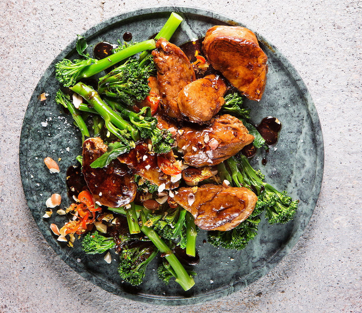 Quick-and-easy pork-and-Tenderstem broccoli stir-fry recipe