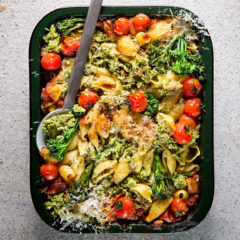 Tenderstem Broccoli-and-ricotta pasta bake