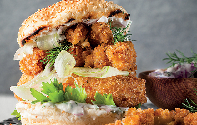 The seafood burger recipe