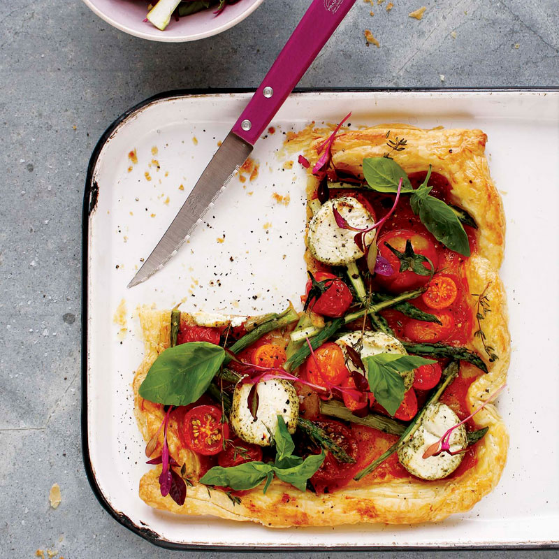 Tomato-and-asparagus-tart recipe