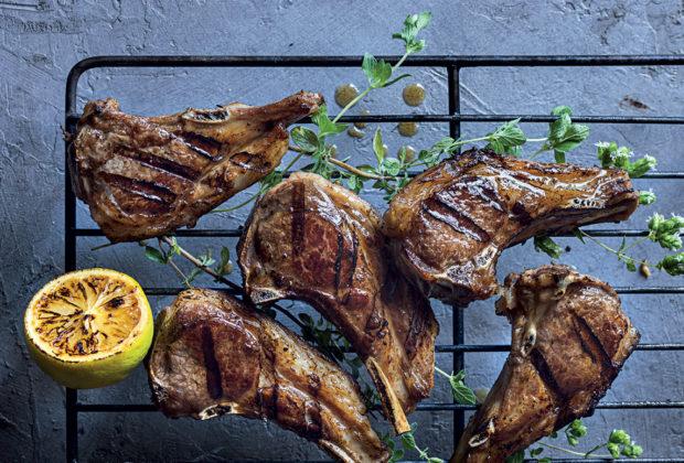 Winey oregano-and-lemon lamb chops recipe