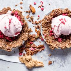 Very berry ice-cream pie