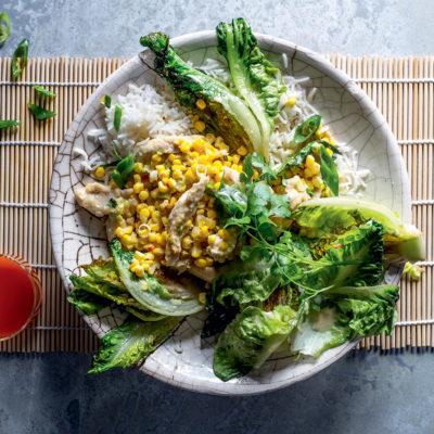Creamy chilli chicken and corn with coriander