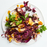 Red cabbage-and-apple slaw with tamarind, turmeric and ginger dressing recipe