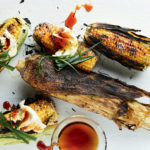 Smoky corn with spring onion cream cheese and maple syrup recipe