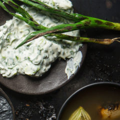 Smoky spring onion dip