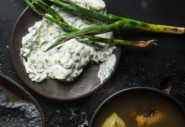 Smoky spring onion dip recipe