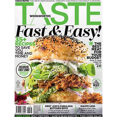 The November issue of TASTE has arrived!