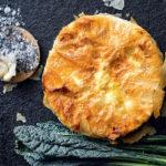 Leftover cheese, broccoli leaf and ham phyllo pie recipe