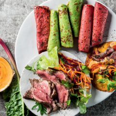 Pancake steak wraps: 1 batter 3 ways
