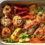 Herby couscous-stuffed tomatoes and peppers recipe