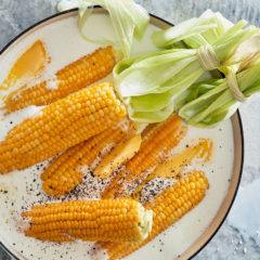 Milk-and-butter-poached corn on the cob