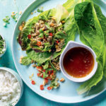 Pork larb with cos spears recipe
