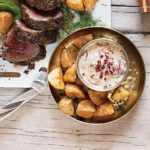 Quick crunchy potatoes with herbed salt recipe