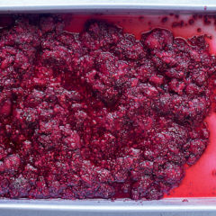 Grilled raspberry-and-chia tray jam